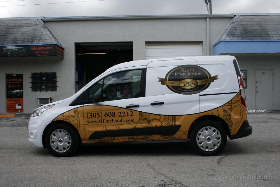 2014 Ford Transit Connect Van Vinyl Wrap Miami