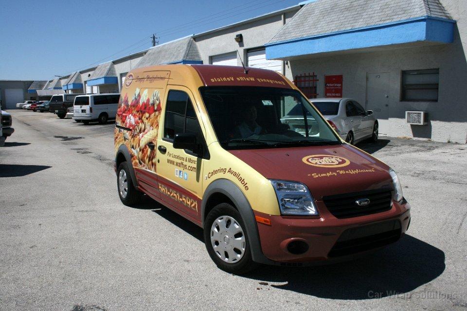 Car decals and graphics design - Boca Raton Ford Transit Conect Graphic Design