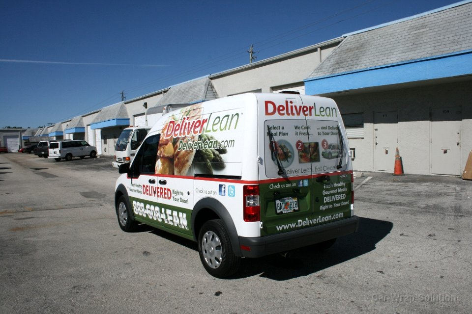 Ford Transit Connect >> Deliver Lean vehicle wrap boca raton florida