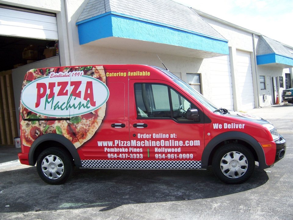 Ford Transit Connect Vehicle Wrap Pembroke Pines Florida