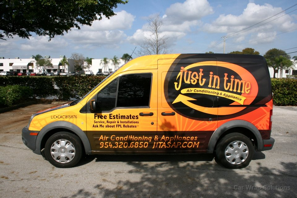 Ford Transit Van >> Ford Transit Connect Vinyl Van Wrap Sunrise Florida