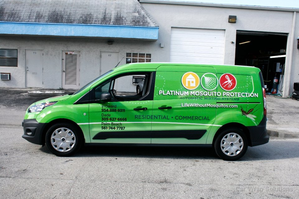 Ford Transit Connect >> Ford Transit Connect Vinyl Wrap Weston Florida