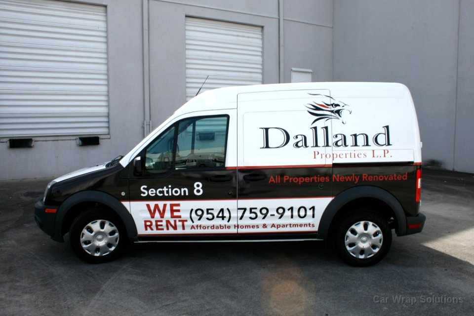 Parkland ford transit connect van wrap