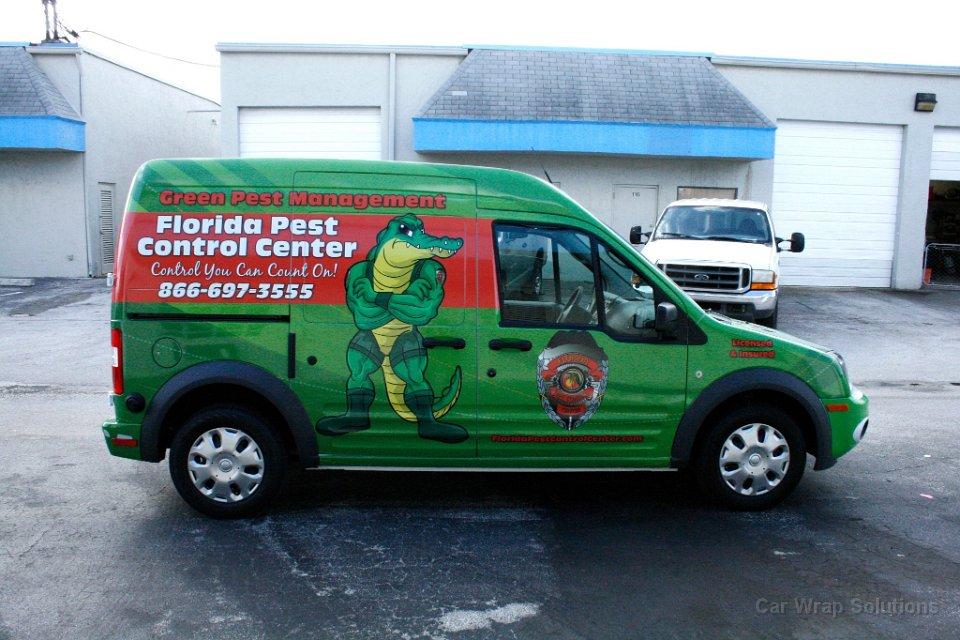 Sunrise Florida Ford Transit Connect Van Wrap