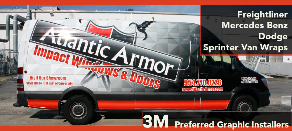 Mercedes Benz Freightliner Dodge Sprinter van vehicle wrap F