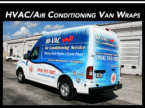 HVAC Air Conditioning Vehicle Wraps Fort Lauderdale, Miami & West Palm Beach Florida