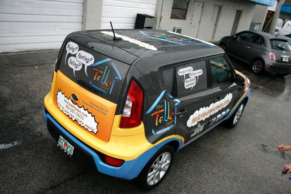 Car Real Estate: Real Estate Company Tello Team Car Wrap