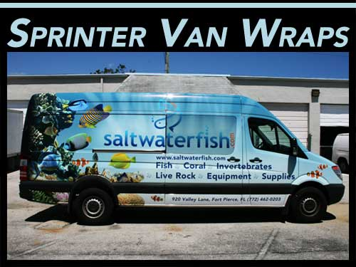Freightliner, Mercedes Benz, Dodge Sprinter Commercial Van Wraps Graphics, Pompano Beach, Miami, Fort Lauderdale, Palm Beach Gardens, Florida