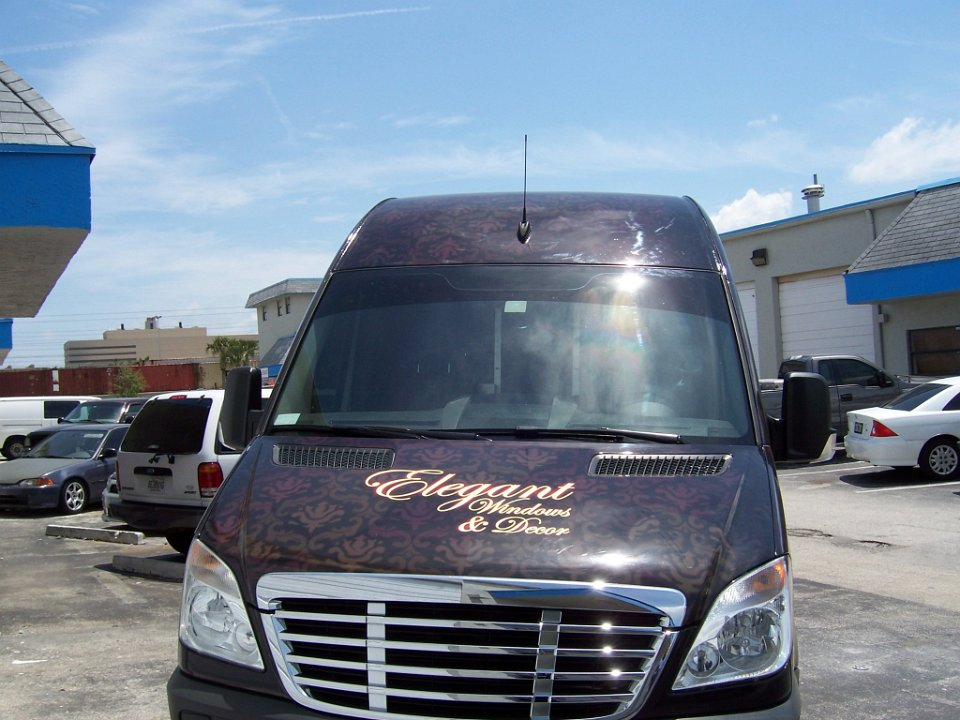 Freightliner Sprinter auto wrap for Elegant Windows in Fort