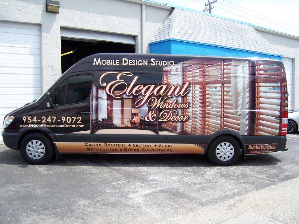 Car Wrap Vinyl >> Freightliner Sprinter truck wrap for Elegant Windows in Fort Lauderdale, Florida,driver side