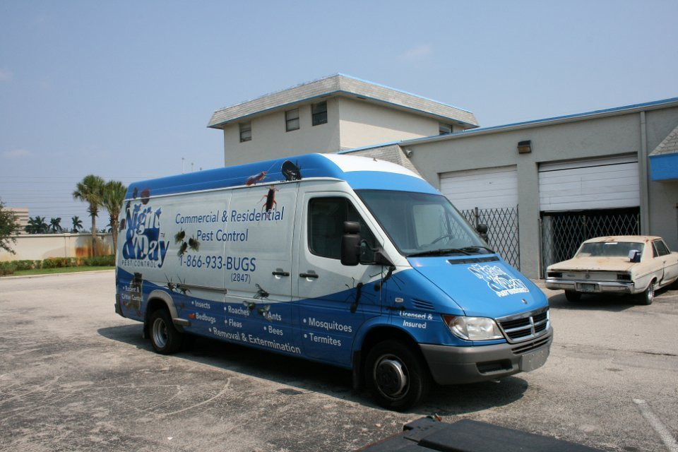 Sprinter Car Wrap Fort Lauderdale Night Day Pest Control