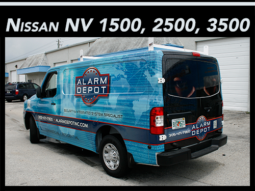 Nissan NV 1500, 2500, 3500 van vinyl graphics and vehicle wraps Fort Lauderdale, Miami, Boca Raton, West Palm Beach Florida