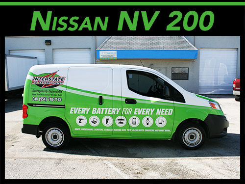 Nissan NV 200 van vinyl car wrap graphics Fort Lauderdale, Miami, West Palm Beach Florida