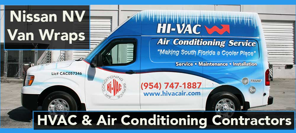 Nissan NV Commercial Fleet Wraps and Graphics, Miami, Fort Lauderdale, Palm Beach, Florida