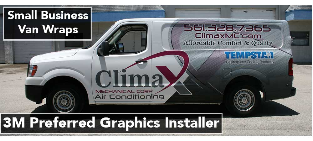 Nissan NV Vans Small Business Vinyl Wrap Advertising