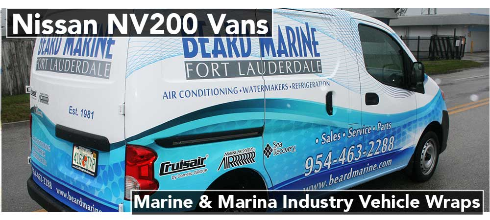 Fort Lauderdale, Miami, Boca Raton, West Palm Beach, Florida Nissan NV Commercial Van Vinyl Wraps