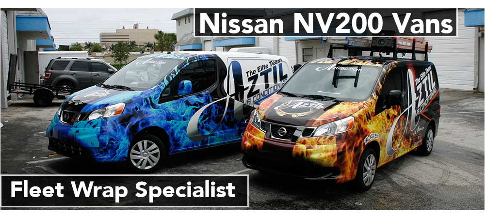 Nissan NV Small Business Van Graphics Davie, Fort Lauderdale, Miami, Boca Raton, West Palm Beach, Florida