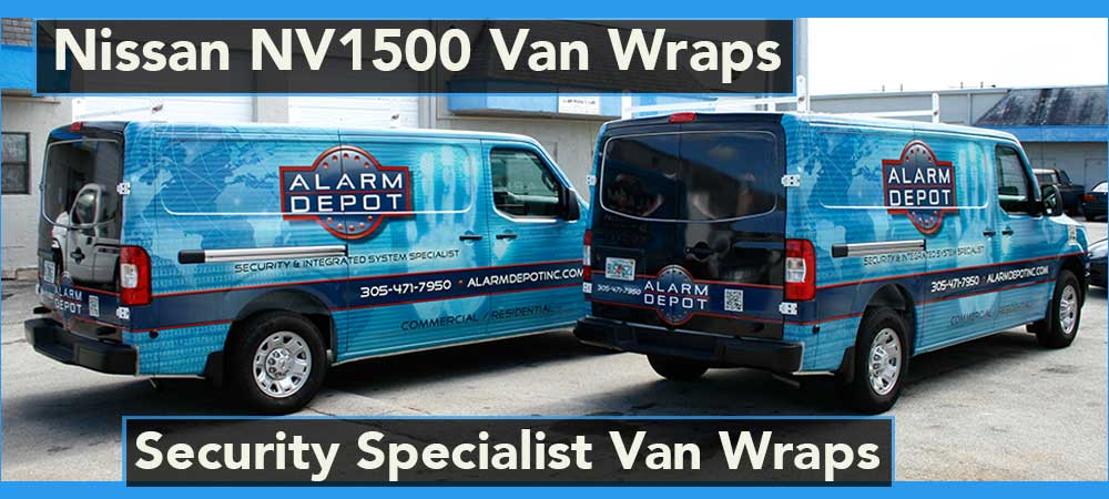 Nissan NV Vans Graphic Design and Templating for Wraps and Graphics, Miami, Fort Lauderdale, Palm Beach, Florida