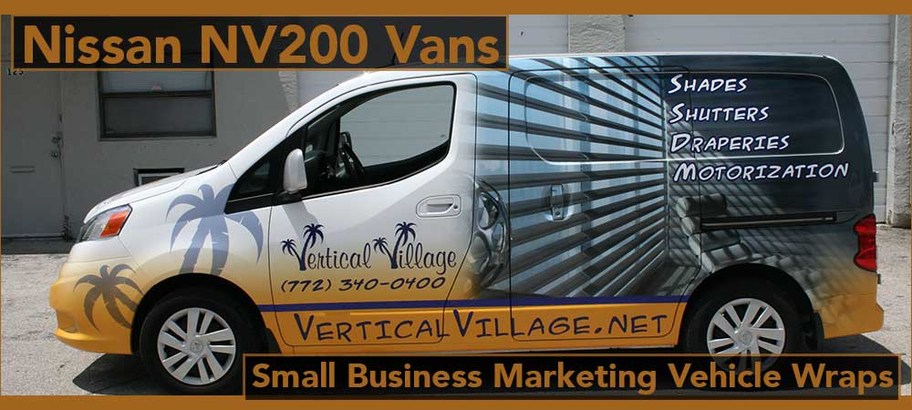 Nissan NV Vans Fleet Wraps Fort Lauderdale, Miami, Boca Raton, West Palm Beach, Weston, Florida