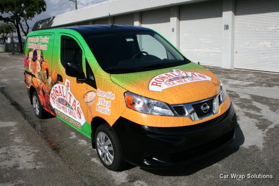 Car Wrap Vinyl >> Nissan NV Vans Commercial Vinyl Wraps, Graphics & Lettering