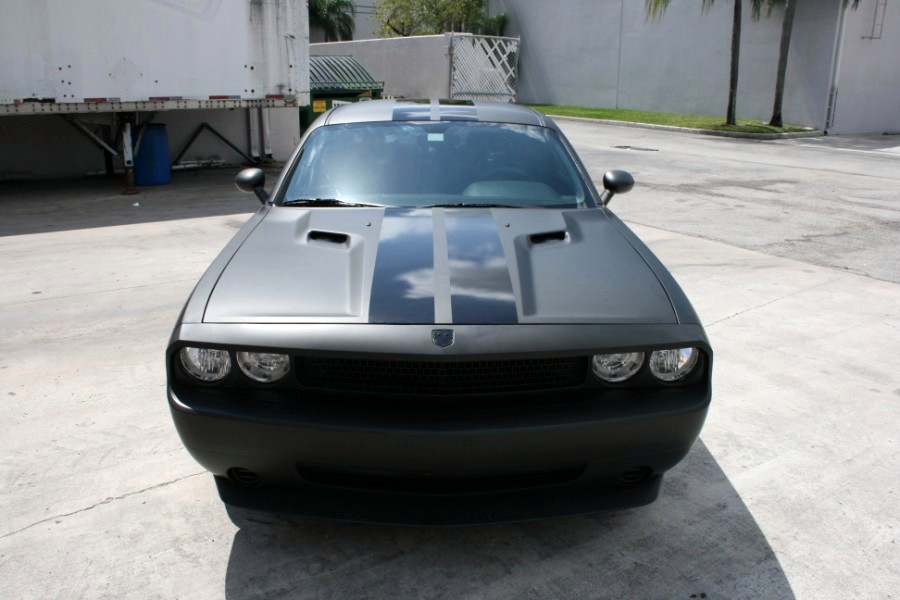 Fort Lauderdale Dodge Challenger Matte Black Racing Stripes