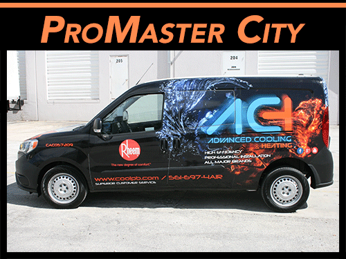 Ram Promaster City Van Vehicle Wraps & Graphics