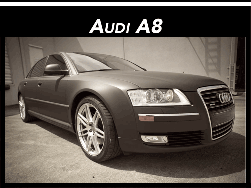 Fort Lauderdale Miami Audi A8 Matte Black Car Wrap