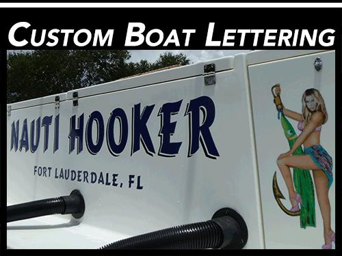 Fort lauderdale florida custom vinyl boat lettering
