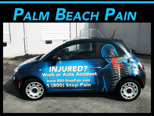 Fiat 500 Vehicle Wrap West Palm Beach Florida