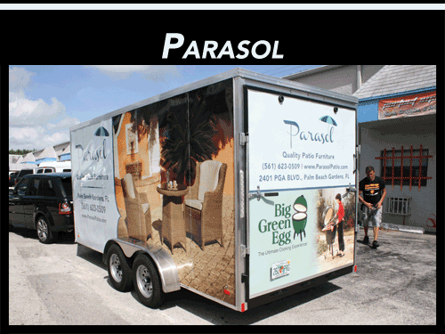 Palm Beach Gardends Trailer Wrap