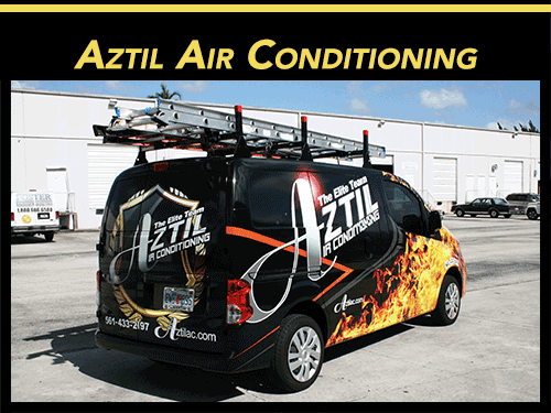 Aztil Air Conditioning Nissan NV200 Van Wrap Advertising West Palm Beach Florida
