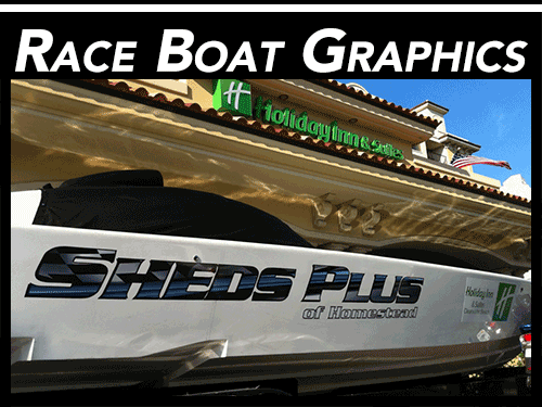 Miami Florida Custom Racing Boat Graphics & Lettering