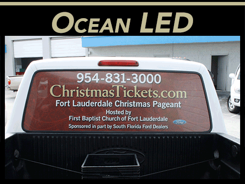 Rear Window Vehicle Graphics Perforated Window Vinyl Wraps