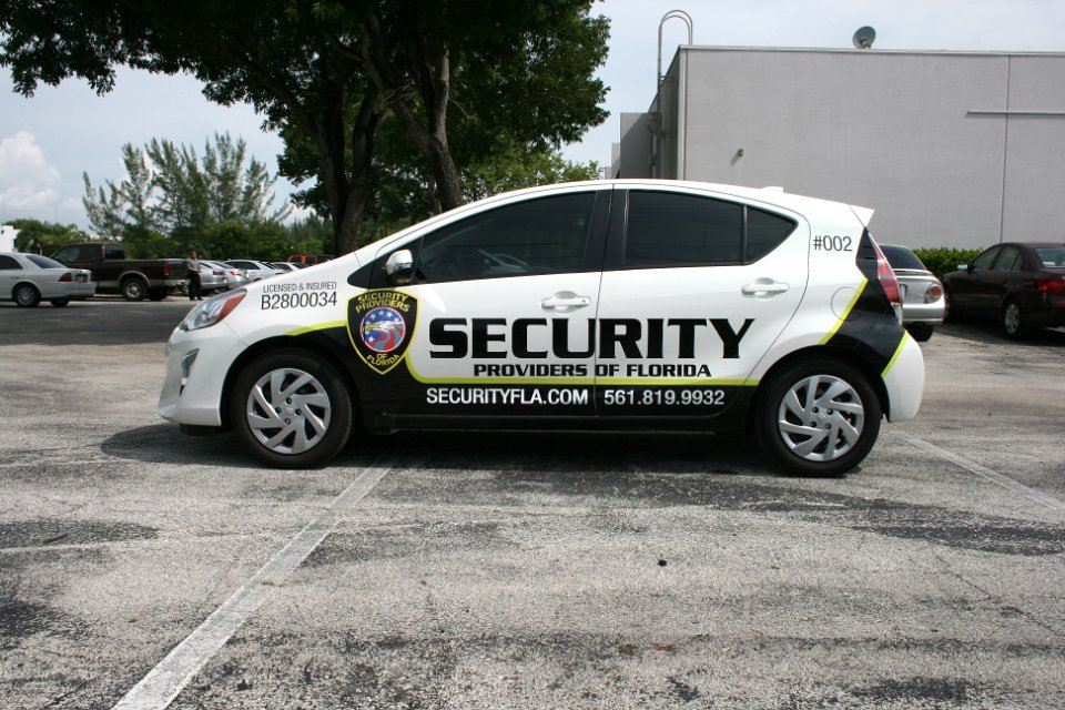 Security Car Graphics Lettering