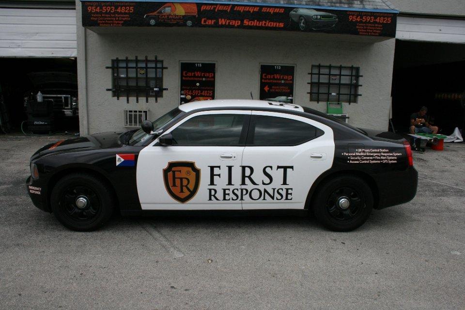 Car Wrap Vinyl >> police car vehicle wrap Miami Florida