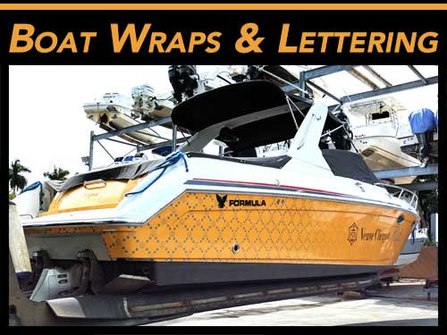 Miami, Fort Lauderdale, West Palm Beach, FL Boat Graphics, Wraps & Lettering