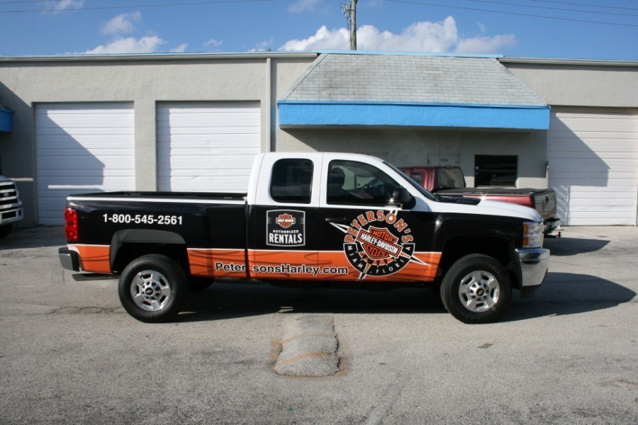 Chevy 3m Truck Wrap Graphic Petersons Harley Davidson Miami
