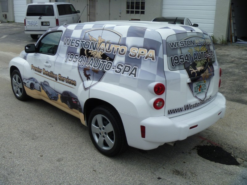 Chevy Hhr Panel Truck Wrap For Weston Auto Spa In Florida Driver Corner Designed Printed Installed By Car Solutions