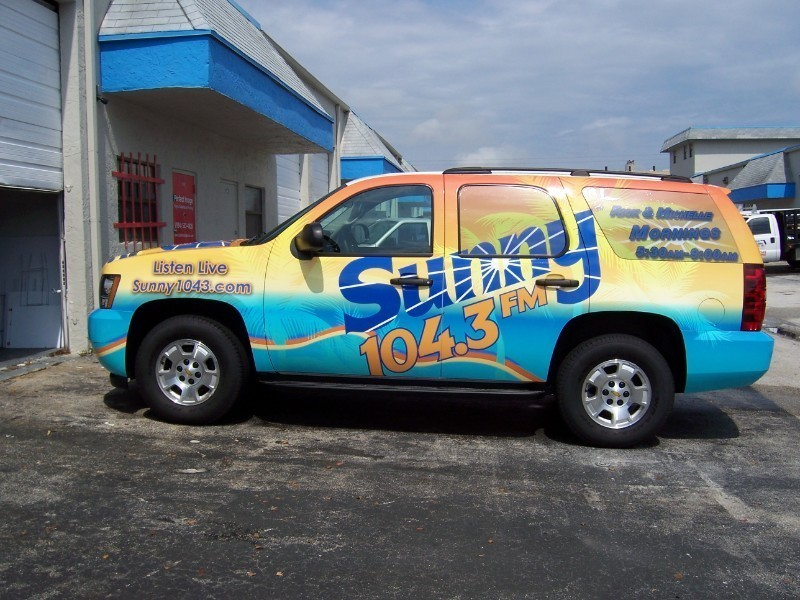 Radio Station Car Wrap For Sunny 104 3 Cbs In West Palm Beach Designed Printed And Installed By Solutions Fort Lauderdale Driver Side