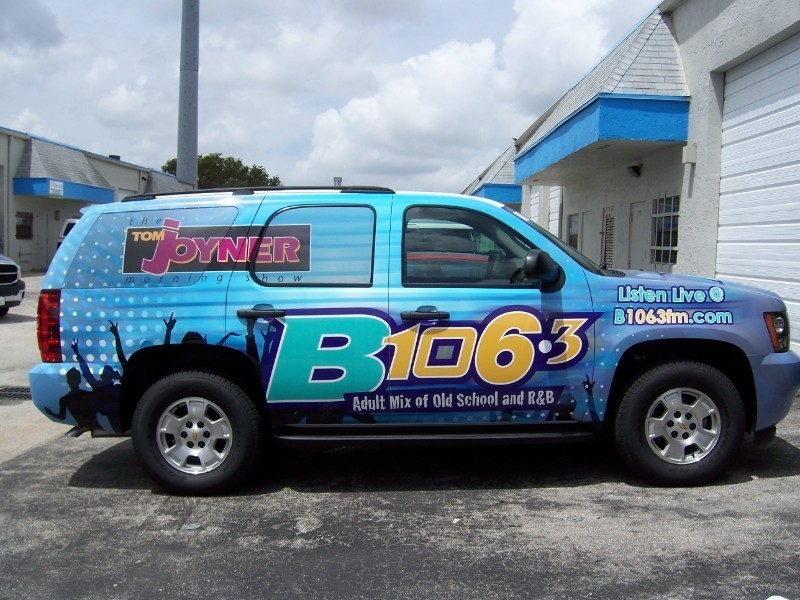 Vehicle Wrap Radio Station For The B106 3 Cbs In West Palm Beach Designed Printed And Installed By Car Solutions Fort Lauderdale