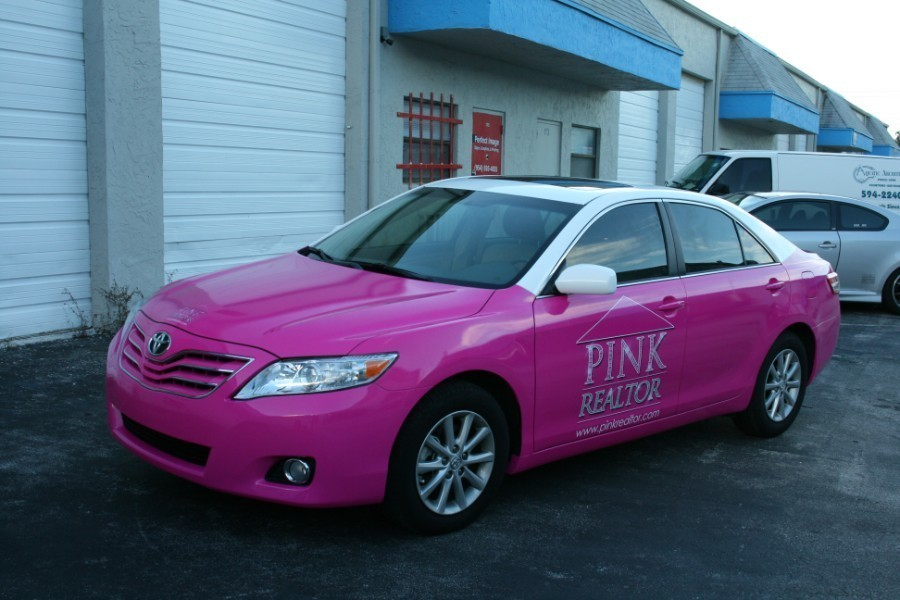 Palm Beach Toyota >> auto wrap, toyota camry, pink realtor hollywood, florida by car wrap solutions