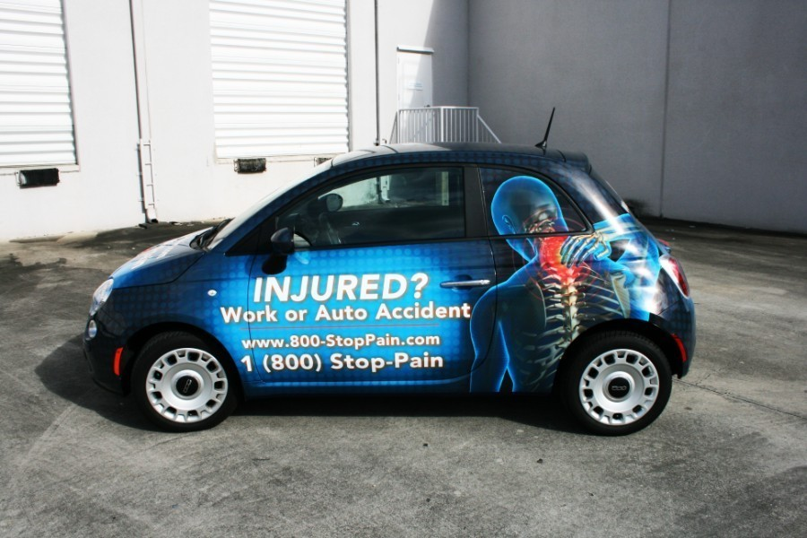 fiat 500 car wrap palm beach gardens