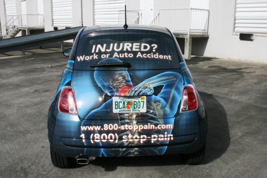 West Palm Beach Fiat 500 Car Wrap