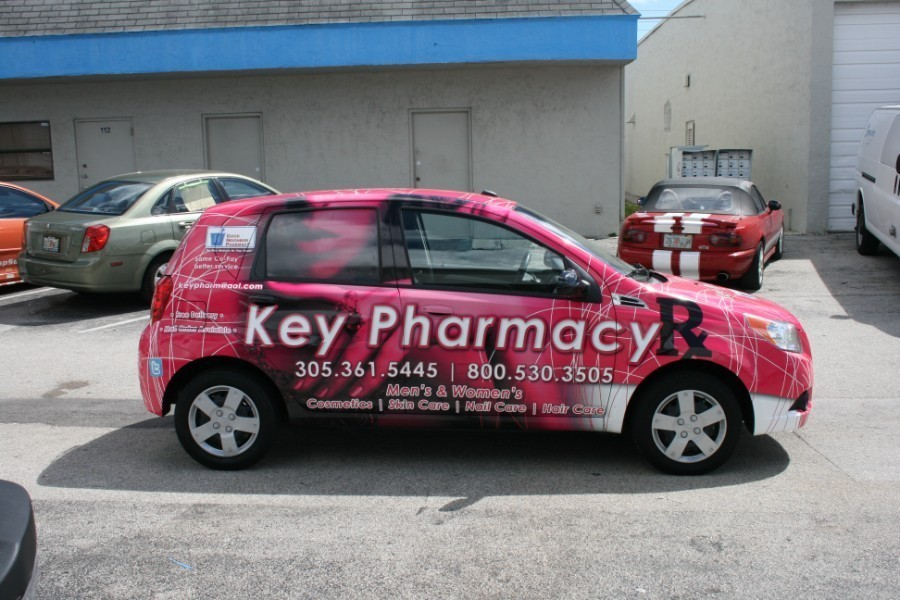 Car Wrap Vinyl >> Chevy Aveo car wrap Miami Florida Key Pharmacy (7)