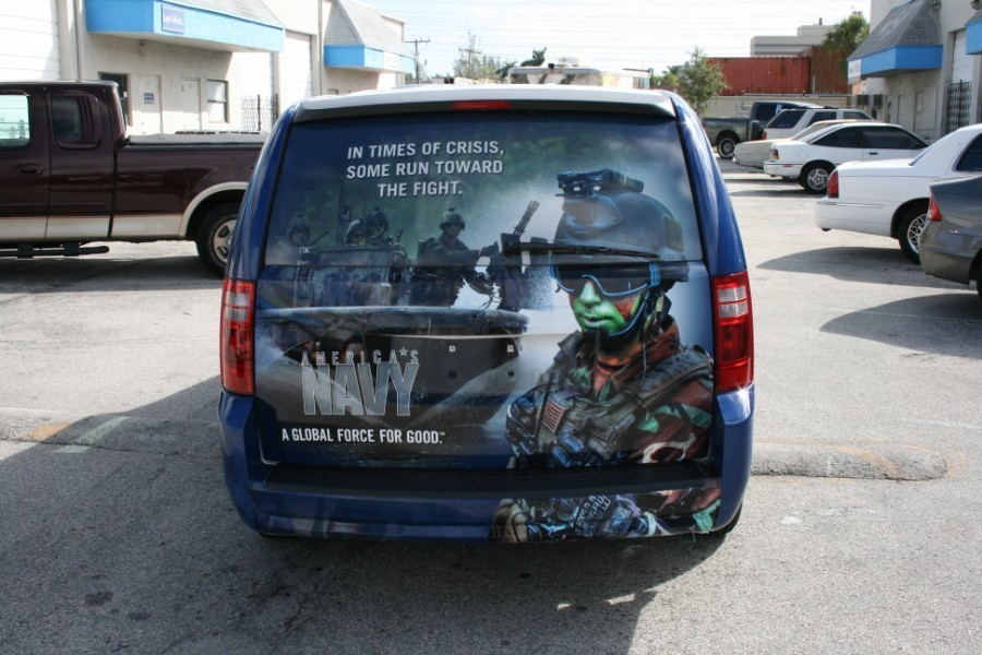 Car Wrap Vinyl >> Dodge Caravan car wrap, US Navy, Fort Lauderdale, Car Wrap Solutions