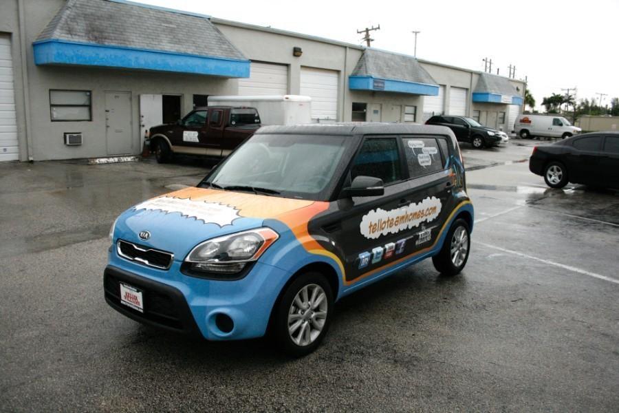 Miami Kia Soul Car Wrap Realty Company