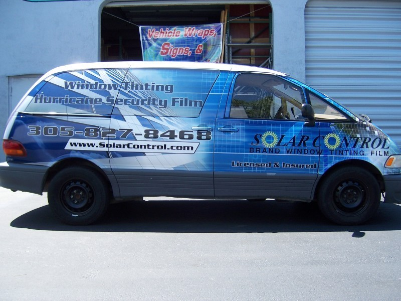 Toyota Previa Car Wrap For Solar Control In Miami Florida