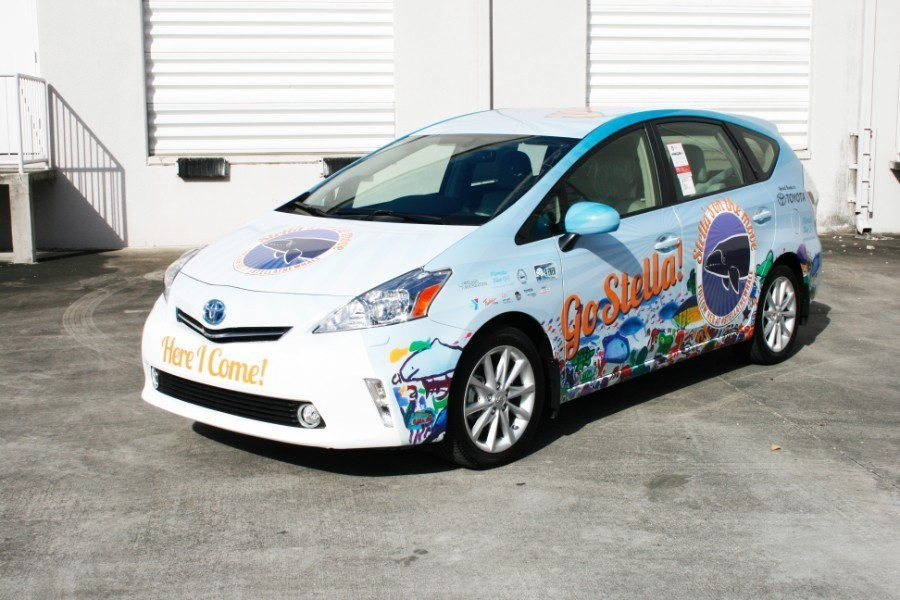 Palm Beach Toyota >> Toyota Prius car wrap graphics Fort Lauderdale