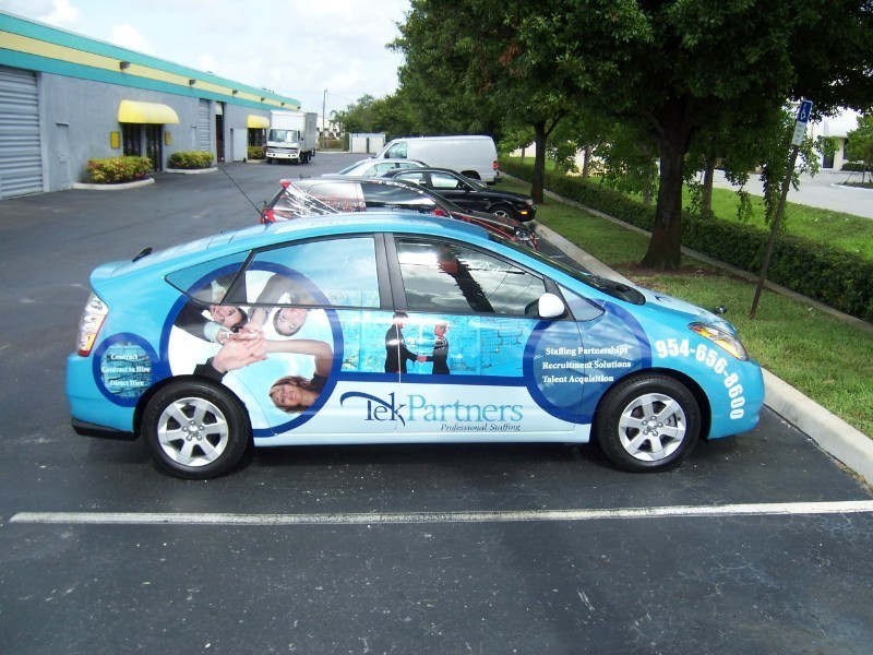 Toyota Prius Vinyl Wrap For Tek Partners In Plantation