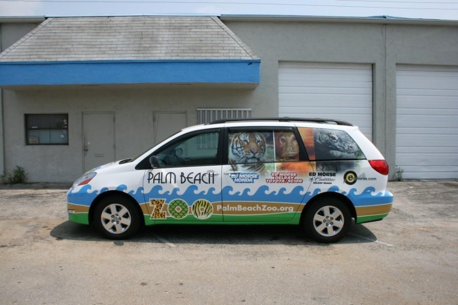 Toyota Sienna Car Wrap West Palm Beach Zoo
